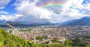 Free Panoramic View Of Grenoble, Rhone-Alpes, France Royalty Free Stock Photo - 221522075
