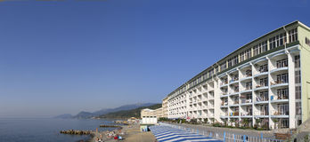 Panoramic View Of Hotel At Black Sea Stock Image