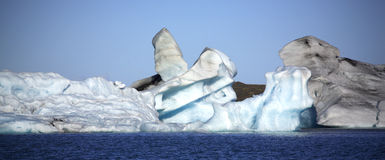 Panoramic View Of Iceberg Shapes Royalty Free Stock Photos