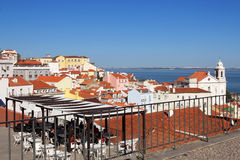 Panoramic View Of Lisbon Architecture From Largo Portas Do So Stock Photos