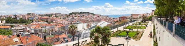 Free Panoramic View Of Lisbon Rooftop From Sao Pedro De Alcantara Vie Royalty Free Stock Photo - 53402335