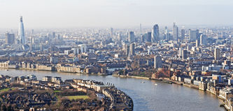 Panoramic View Of London Royalty Free Stock Photo