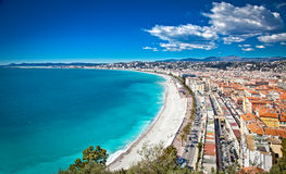 Free Panoramic View Of Nice Coastline And Beach With Blue Sky. Royalty Free Stock Photo - 43320815