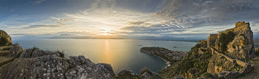 Panoramic View Of Palamidi Royalty Free Stock Image