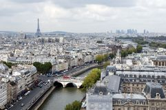 Panoramic View Of Paris Royalty Free Stock Images