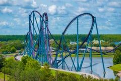 Free Panoramic View Of People Enjoying Amazing Ride At Mako Rollercoaster In Seaworld 2 Stock Photo - 152276830