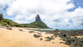 Panoramic View Of Praia Da Conceicao Beach And Morro Do Pico - Fernando De Noronha, Pernambuco, Brazil Stock Photos