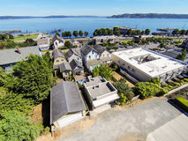 Free Panoramic View Of Residential Area And Scenic Bay In Tacoma Royalty Free Stock Photography - 76431797