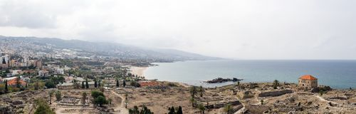 Free Panoramic View Of The Ancient Ruins At Byblos, Lebanon Stock Image - 129539791