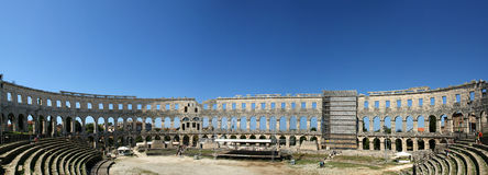 Panoramic View Of The Arena (colosseum) Royalty Free Stock Image