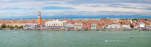 Panoramic View Of The City Of Venice Including St Mark& X27;s Square And The Grand Canal Stock Image