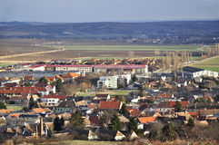 Panoramic View Of The Historic Part Of Retz Stock Photography
