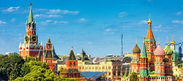 Free Panoramic View Of The Red Square In Moscow, Russia Stock Photography - 113985852