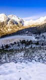Panoramic View Of Winter Mountains In High Tatras, Slovakia Royalty Free Stock Image