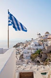 Panoramic view of Oia, Santorini, Greece Royalty Free Stock Image