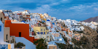 Panoramic view of Oia, Santorini, Greece Royalty Free Stock Photo