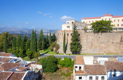 Panoramic view of old buildings in Ronda Stock Photo