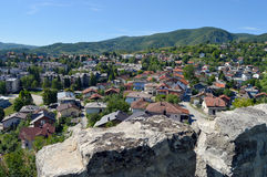 Panoramic view from old castle in the Jajce,Bosnia and Herzegovina. Travel to Europa.Panoramic view from old castle in the Jajce,Bosnia and Herzegovina Stock Photos