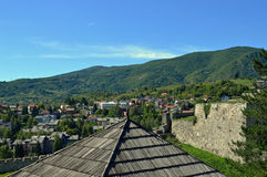 Panoramic view from old castle in the Jajce,Bosnia and Herzegovina Stock Photo