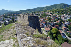 Panoramic view from old castle in the Jajce,Bosnia and Herzegovina. Travel to Europa.Panoramic view from old castle in the Jajce,Bosnia and Herzegovina Stock Photography