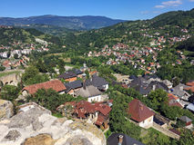 Panoramic view from old castle in the Jajce,Bosnia and Herzegovina Stock Image