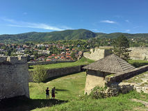 Panoramic view from old castle in the Jajce,Bosnia and Herzegovina. Travel to Europa.Panoramic view from old castle in the Jajce,Bosnia and Herzegovina Royalty Free Stock Photo