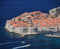 A panoramic view of an old city of Dubrovnik Royalty Free Stock Photos