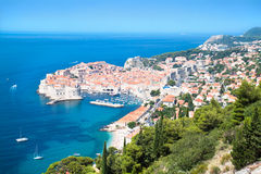 A panoramic view of an old city of Dubrovnik Stock Photo