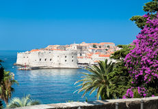 A panoramic view of an old city of Dubrovnik stock photography
