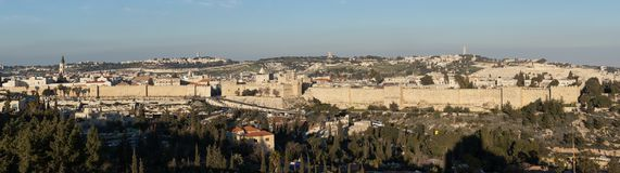 The Old City Wall of Jerusalem royalty free stock images