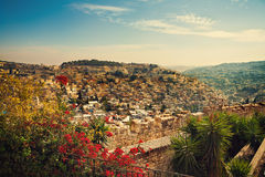 Panoramic view of old city Jerusalem Stock Images