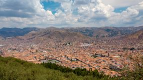 Panoramic view of the Old City and Plaza de Armas. royalty free stock photography