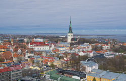 Panoramic view of old city of Tallinn Stock Image