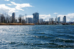 Panoramic view of old danube in vienna austria Stock Images