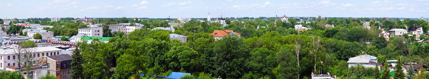 Panoramic view of old district of Murom Stock Photo