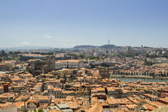Panoramic view of old downtown, Porto cityscape. Stock Image