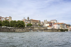 Panoramic view of old downtown, Porto cityscape. Stock Photo