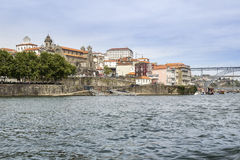 Panoramic view of old downtown, Porto cityscape. Royalty Free Stock Image