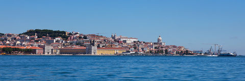 Panoramic view of old Lisbon Stock Photo