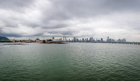 Panoramic view of old and new Panama City - Panama Royalty Free Stock Photography