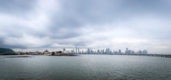 Panoramic view of old and new Panama City - Panama City, Panama Stock Images