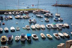 Panoramic view of old port in Dubrovnik Royalty Free Stock Photography