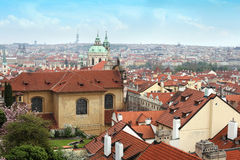 Panoramic view of old Prague Stock Images