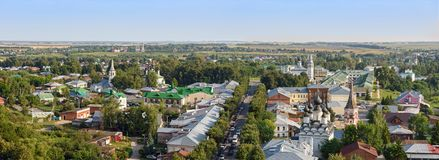 Panoramic view of the old Russian town of Suzdal, Russia Stock Images