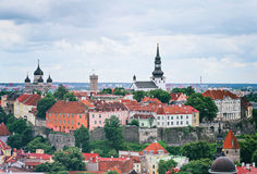 Panoramic view of old Tallinn. Stock Images