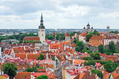 Panoramic view of old Tallinn. Stock Photo
