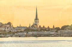Panoramic view of old Tallinn Stock Photo
