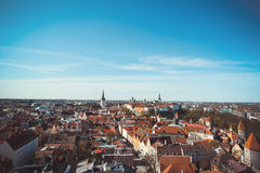 Panoramic view of Old Tallinn Royalty Free Stock Photo