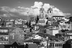 Panoramic view of old town centre in Porto, Portugal Stock Photo