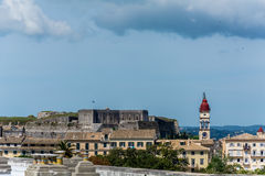 Panoramic view of old town in Corfu island, Greece Stock Photography